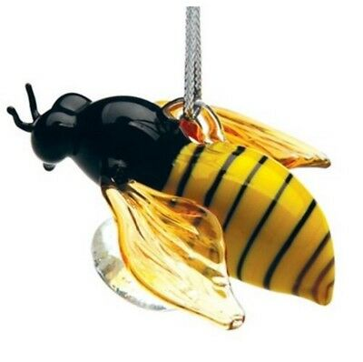 Glassdelights Honey Bee Glass Christmas Tree Ornament Insect Bug Decoration New