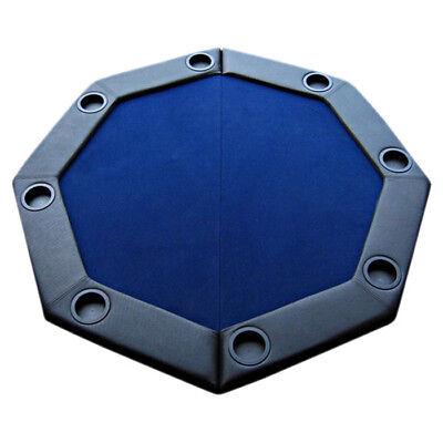 JP Commerce Padded Octagon Folding Poker Table Cover Blue