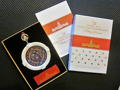2018 Official United States Congressional Holiday Ornament, New In Box