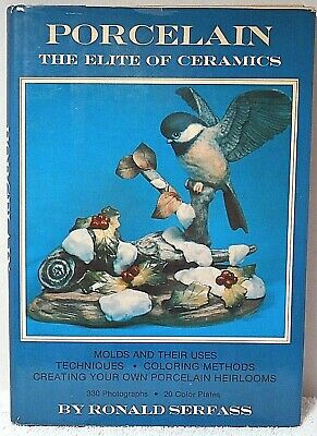 Book PORCELAIN THE ELITE OF CERAMICS Serfass Technique Coloring Pottery Craft