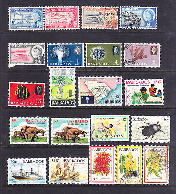 Barbados postage stamps -  Commems 21  x Used- Collection odds