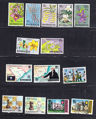 Barbados postage stamps - 14 x Used - Collection odds