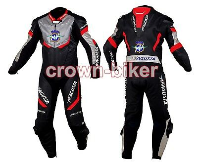 Mv agusta Motorbike leather suit racing suit in one piece two piece any size