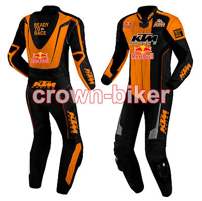 Ktm custom Motorbike leather suit racing suit in one piece two piece any size