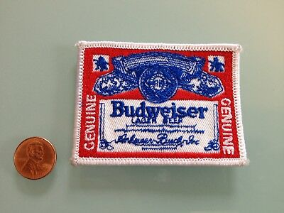 Vintage BUDWEISER Lager Beer PATCH unused RARE iron on