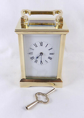 Excellent 8 Day Brass Carriage Clock - Fully Cleaned And Serviced