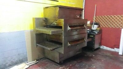 Middleby Marshall PS360 Double Stack Conveyor Oven w/Hood PROFESSIONALLY CLEANED