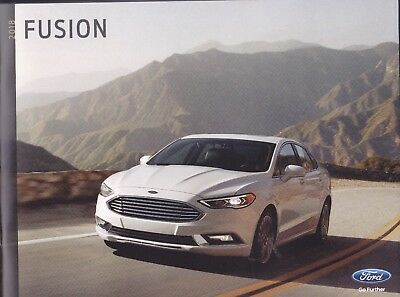 2018 Ford  Fusion + Hybrid  Factory Original Sales Brochure     36 Pages