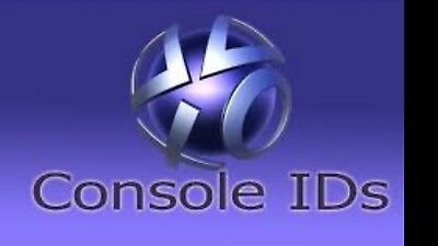 PS3 Console ID CID IDPS and PSID 100% Private only. 1 day warranty. Fast reply.