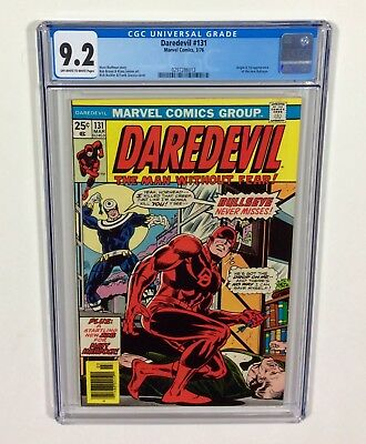DAREDEVIL #131 CGC 9.2 KEY (1st new Bullseye & Origin!) Mar.1976 Marvel