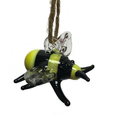 Yellow and Black Bee Christmas Tree Ornament Bumblebee Bug Decoration New