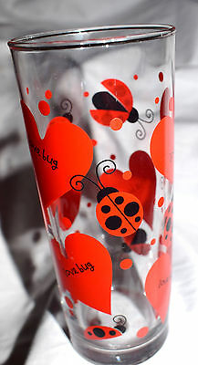 Estate  Decorative Glass Love Bug Vast, Glass, with Hearts & Lady Bugs LOOK