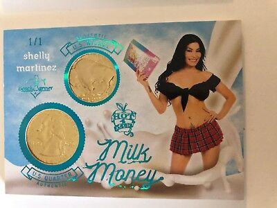 2018 Benchwarmer Card Hot For  Teacher Milk Money Shelly Martinez Blue 1/1