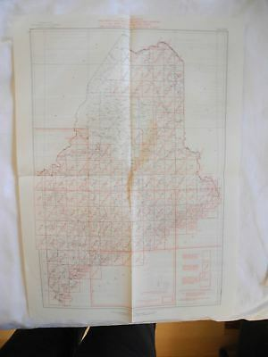 1952 MAINE USGS Topographic Topo Map Index  with Geological Water Supply Report