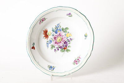Seltmann Weiden Wall Decorative Plate with Green Edge u Floral Decoration,Ø 25