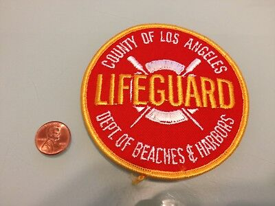 Vintage COUNTY OF LOS ANGELES California LIFEGUARD PATCH unused RARE iron on