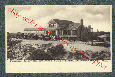 DAYTONA BEACH FLORIDA EAST COAST AUTO CLUB  - circa 1906 Postcard GRADE 5
