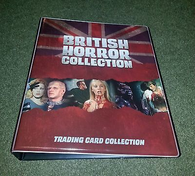 BINDER 2017 Unstoppable Cards - British Horror Collection padded binder *NEW*
