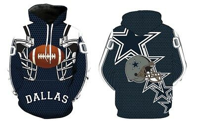 NEW Dallas Cowboys Sport Hoodie Sweatshirt Hooded Jumper Jacket Coat US
