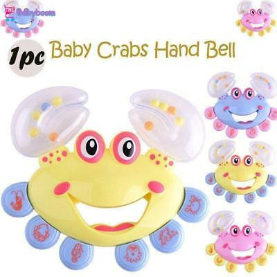 Kids Baby Crab Design Hand Bell Musical Instrument Jingle Shaking Rattle Toys