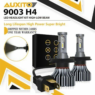 90W 9000LM H4 HB2 LED Headlight Kit Hi/Lo Beam Globe Bulbs Upgrade 6500K White