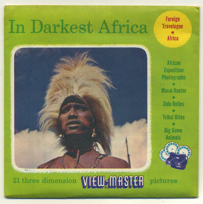 In DARKEST AFRICA 1956 Sawyer's ViewMaster Packet with Reels 3900-ABC