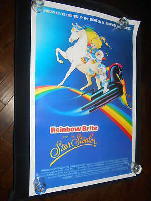Rainbow Brite And The Star Stealer  Original Rolled One Sheet Poster  Cartoon