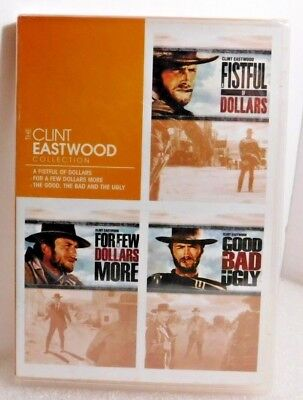~New~ MAN WITH NO NAME TRILOGY, DVD Set/3 Movies, CLINT EASTWOOD, LEE VAN CLEEF