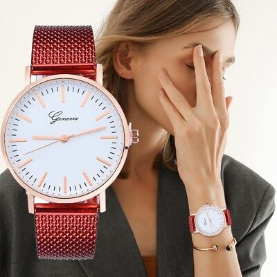 Women's Fashion Geneva Silicone Gel Strap Wrist Watch Casual Ladies Quartz Watch