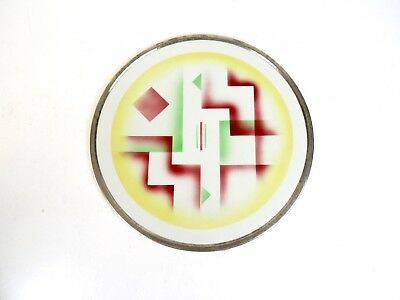 Original German Bauhaus Suprematism Ceramic Wall Plate Art Deco 1925
