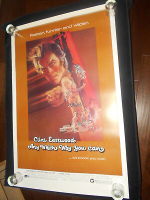 Any Which Way You Can Clint Eastwood   Original  Rolled One Sheet  Poster