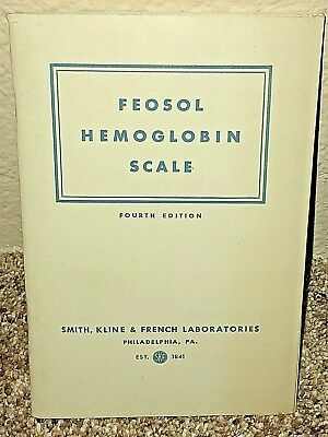 Feosol Hemoglobin Scale 4th Ed Smith Kline French Test Booklet Unused from 1945