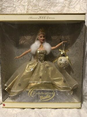 Celebration Barbie Special Edition Holiday 2000 Christmas Ornament NIB #28269