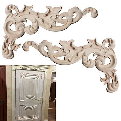 Hot Woodcarving Corner Decals Wall Cabinet Decorative Accessory DIY Color 1 Pair