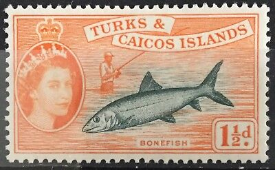 Turks and Caicos Islands 1957  1½d. Bonefish SG238 Mtd.Mint