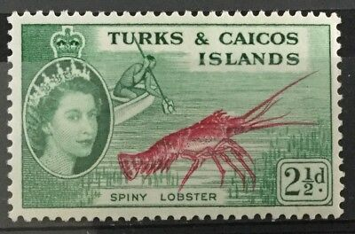 Turks and Caicos Islands 1957  2½d. Spiny Lobster SG240 Mtd.Mint