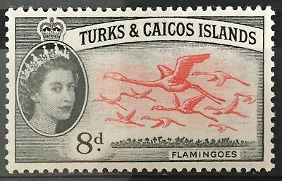 Turks and Caicos Islands 1957  8d. Flamingoes SG245 Mtd.Mint