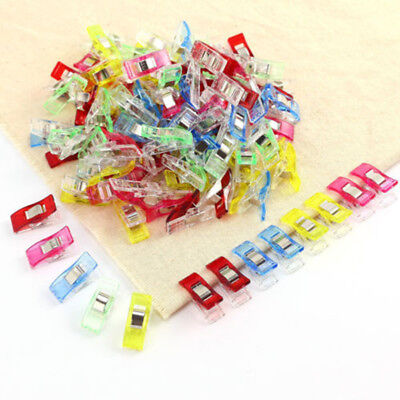 120Pcs Fixed Clips For Fabric Quilting Craft Sewing Knitting Crochet Binding AU