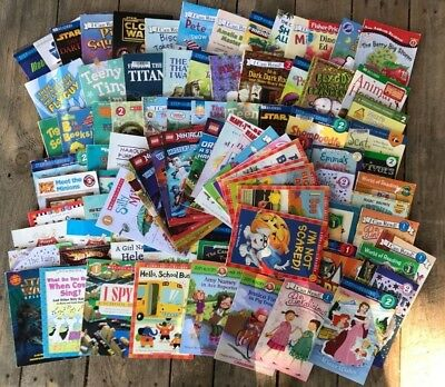 Lot of 105 Level 1 2 3 4 Early Easy Reader SET Books I Can Read Step into read