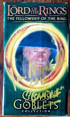 "SIR IAN McKELLEN ""AUTOGRAPHED HAND SIGNED"" THE LORD OF THE RINGS GANDALF GOBLET"
