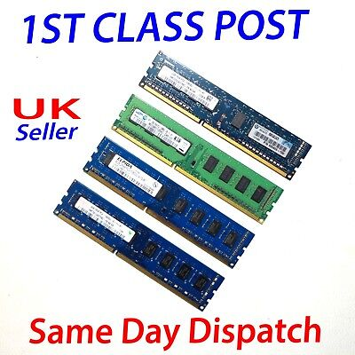 GENUINE 2GB 4GB 8GB 16GB Ram Memory DDR3 PC-10600U 1333Mhz Dekstop PC LOT