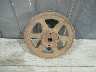 Pulley Vintage industrial steampunk cast iron gear lamp base Rusty Sprocket