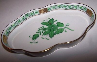 Herend Hungary Handpainted Pottery Porcelain Pin Dish / Trinket Tray