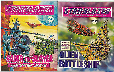 "1984. Two x ""STARBLAZER"" Space Fiction Picture comics #'s 125 & 126."