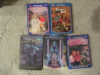 Lot of 5 Mary Downing Hahn Chapter Books Closed for Season The Lovely Bad Ones