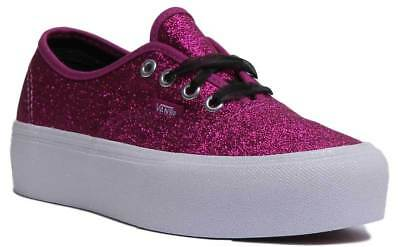 WOMENS VANS PINK Canvas Lace-up Trainers Size UK 5  Ex-Display - EUR ... 5e443d94c6