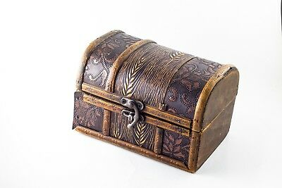 Used wooden box for jewelry or accessories vintage antique valuable  Collectible