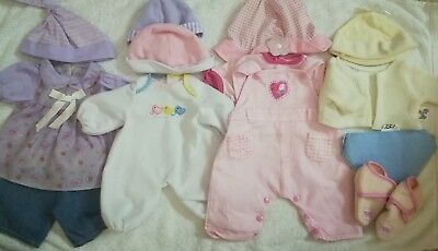 Baby dolls clothes outfit bundle for 14-16inch dolls , fits first baby Annabell