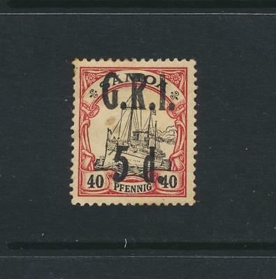 GRI SAMOA 1914, 5d on 50pf  THINNED MLH SG#107 CAT£130 $166 (SEE BELOW)
