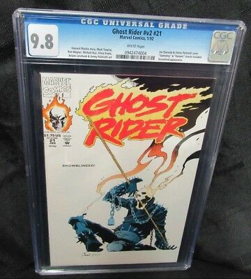 Ghost Rider V2 #21 (1992) Quesada Cover Marvel Comics CGC 9.8 White Pages V598